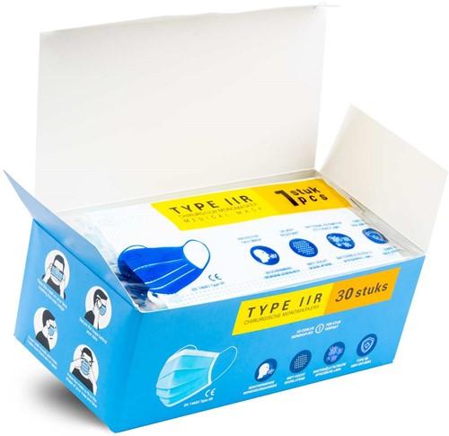 Medische Chirurgische mondkapjes Type IIR per stuk verpakt (300 stuks)