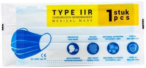 Medische Chirurgische mondkapjes Type IIR per stuk verpakt (30 stuks)