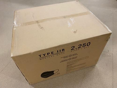 Medische Chirurgische mondkapjes Type IIR per stuk verpakt (100.000 stuks)